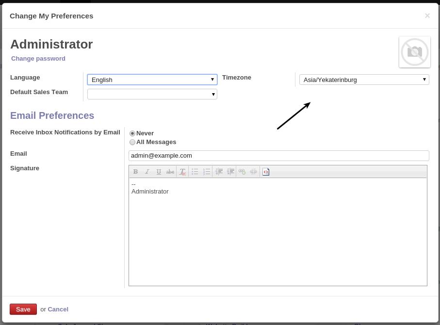Security tutorial — Odoo development master documentation